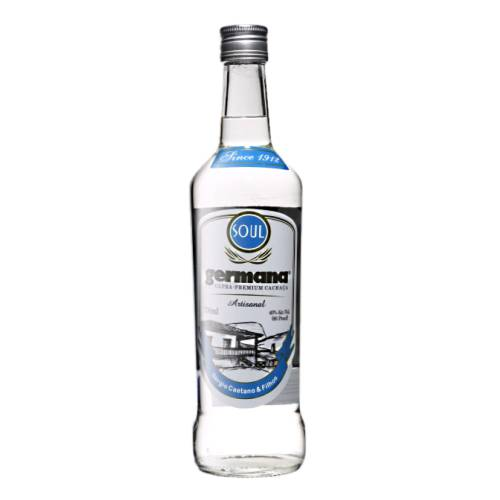 Cachaca Germana germana soul white cachaca made from fermented sugarcane that is processed and un aged non charcoal filtered cachaca and crystal clean.