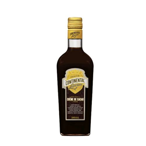 Creme de Cacao Brown Continental continental brown creme de cacao is a sweet alcoholic chocolate liqueur bean flavoured brown color.