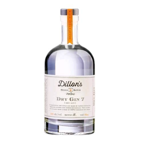Gin Dry Dillons dry gin dillons a traditional dry style gin made by vapour distilling through juniper and other botanicals. this classic gin is made from a base of 100% rye grain.