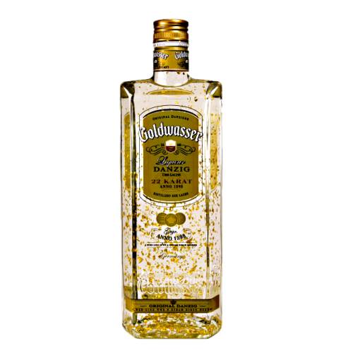 Goldwasser Liqueur goldwasser started being produced in 1598 by danzig. gold flakes were added when it became thought that gold was valuable in the treatment of certain diseases.
