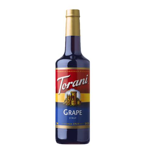 Grape Syrup Torani torani grape syrup this syrup has delicious concord grape flavor.