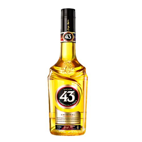 Licor 43 licor 43 or cuarentay tres is a liqueur made from citrus and fruit juices flavoured with vanilla and other aromatic herbs and spices for a total 43 different ingredients.