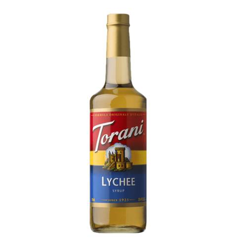 Lychee Syrup Torani torani lychee syrup tropical fruit flavor juicy and sweet lychee is perfect for a refreshing drink in any season.