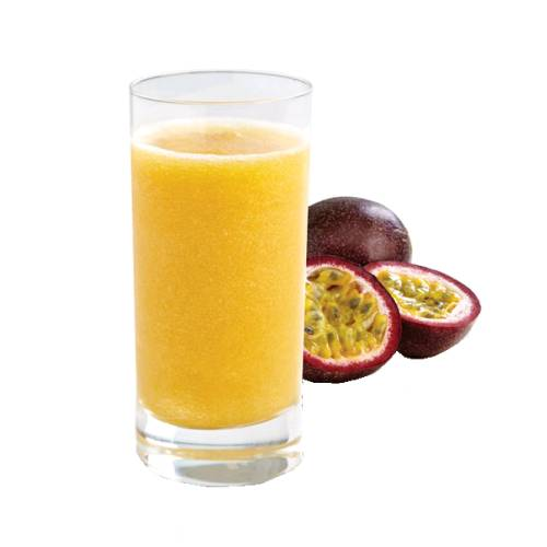 Passion Fruit Juice passion fruit juice has no seeds is a little bitter and a little sweet with a strong passionfruit flavour.