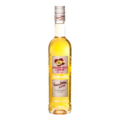 Passion Fruit Liqueur Gabriel Boudier gabriel boudier passion fruit liqueur has a rich aroma embracing mangoes and lychees but also more domestic fruits like sloe berries and peaches.