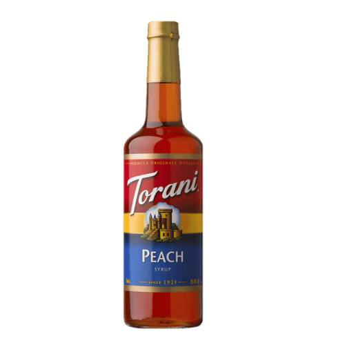 Peach Syrup Torani torani peach syrup with a peachy full flavour.