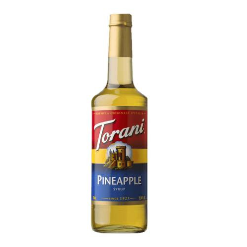 Pineapple Syrup Torani torani pineapple syrup is sweet and tart and full of pineapple flavour.