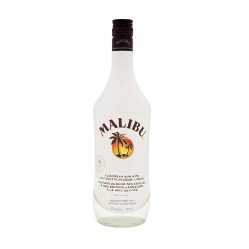 Malibu is a coconut flavoured liqueur made with Caribbean rum.