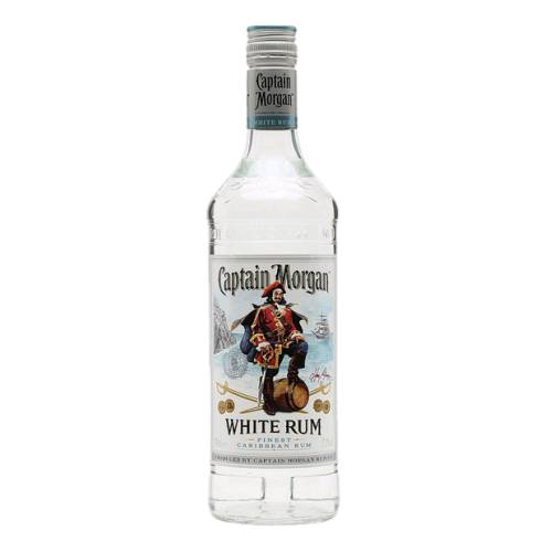 Rum Light White Captain Morgan captain morgan white light silver rum is distilled from sugarcane.