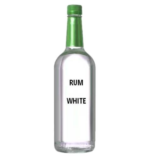 Rum Light White light rums also referred to as silver or white are distilled alcoholic made from sugarcane have very little flavor aside from a general sweetness and clear liquid.