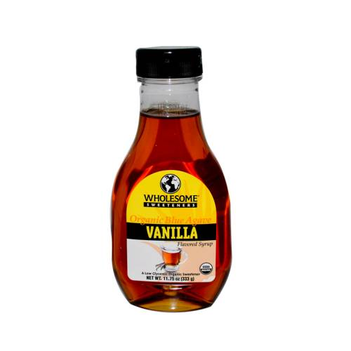 Vanilla bean flavor syrup made with vanilla bean and sugar.
