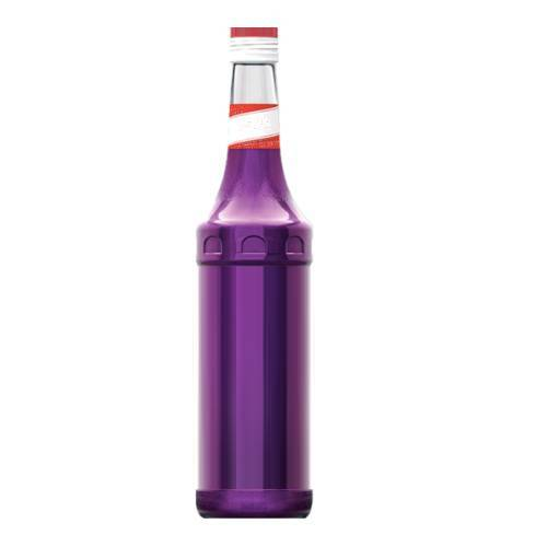 Violet Syrup violette flavoured syrup made with sugar and water with a violet in colour very bright.