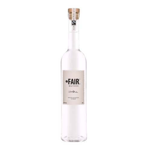 Vodka Fair fair quinoa vodka new generation of vodka stemmed from unique french know how produced and bottled in the cognac region using bolivian quinoa seeds cultivated according to the methods of organic farming.