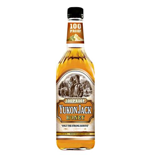 Whisky Liqueur Yukon Jack yukon jack is a liqueur advertised as the black sheep of liquors. it is a 100 proof or 80 proof drink made from whisky and honey. the taste is sweeter than straight whisky and bourbon due to the honey that is added.